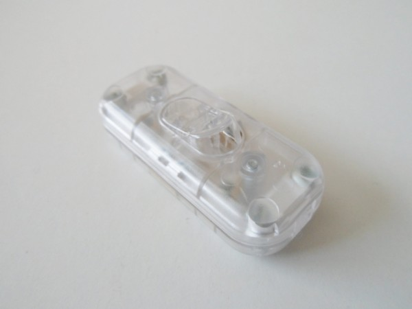 Clear inline torpedo lamp switch light switch 2 core only
