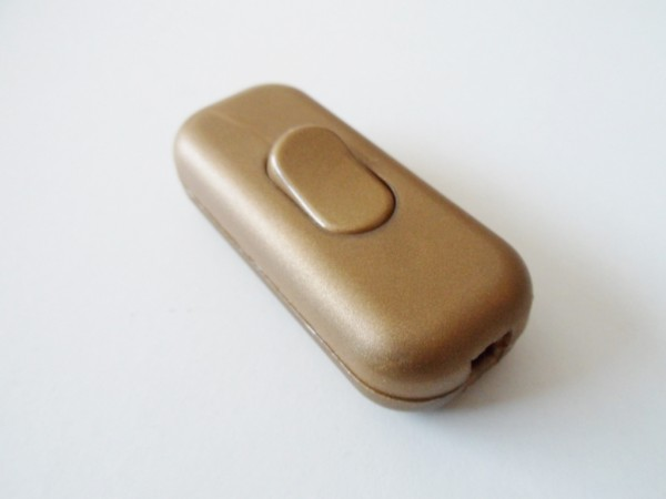 Inline torpedo lamp switch light switch 2 or 3 core gold