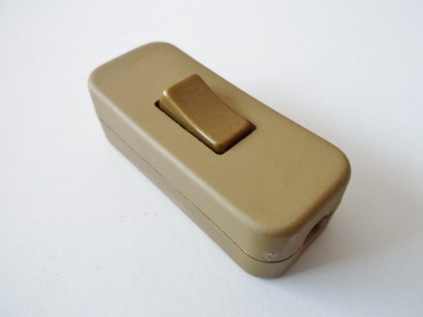 Gold inline lamp switch or light switch 2 or 3 core