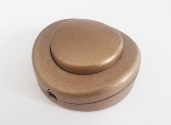 Inline floor or table lamp switch in gold 2 or 3 core
