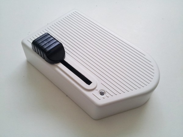 Floor foot dimmer in white with black slider 60 to 300watts