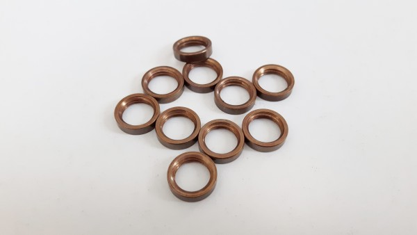 M10 METRIC ANTIQUE BRASS EFFECT SOLID BRASS RING NUTS PACK OF 10 OR 5