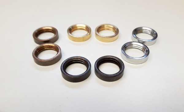 2 x M10 solid brass ring nuts in chrome