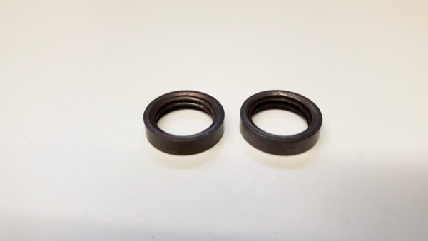 2 x M10 solid brass ring nuts in old bronze