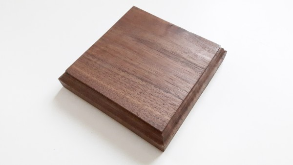 American Black Walnut Square Wooden Ceiling Pattress