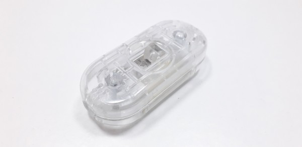 Inline lamp slide switch light switch 2 core clear