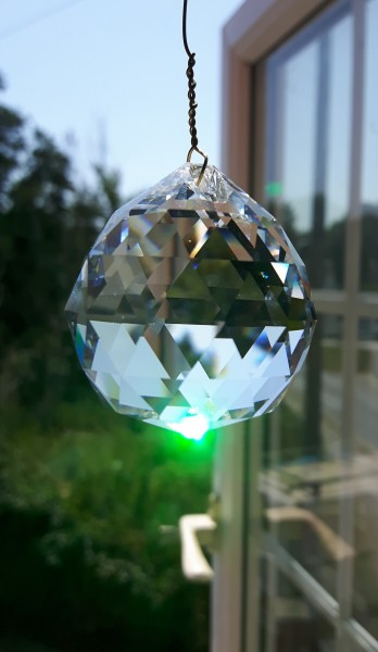 Crystal Sun Catcher Crystal Ball on an 8 inch wire High Quality