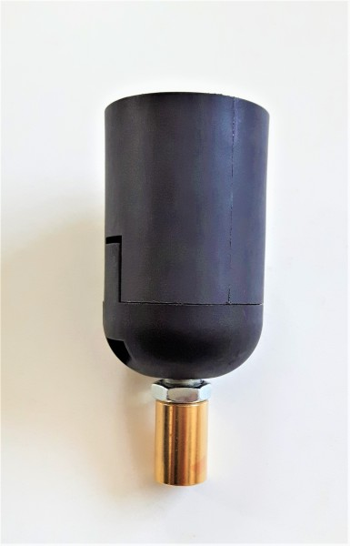E27 2 part black lamp holder and Candle Tube white Drip plastic 85mm x 40mm