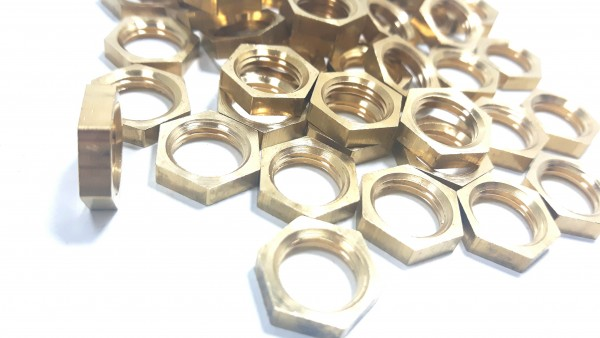 M10 BRASS HEXAGON NUTS 10MM METRIC THREAD 3MM DEPTH