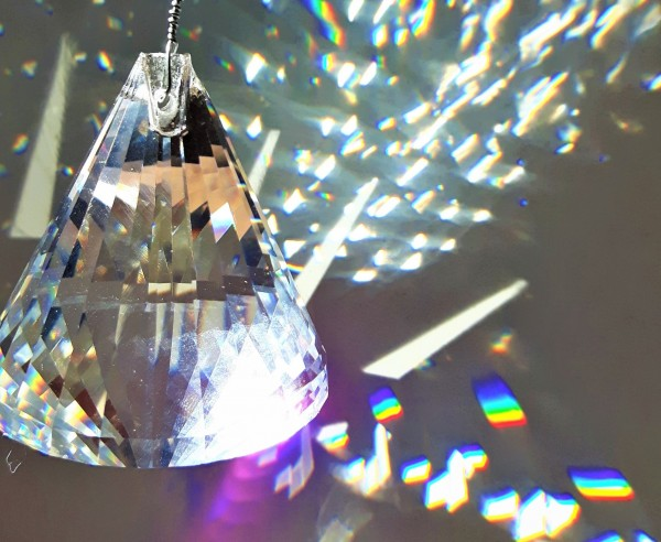 Crystal Suncatcher Hanging Crystal Pyramid With 6 Swarovski Octagons