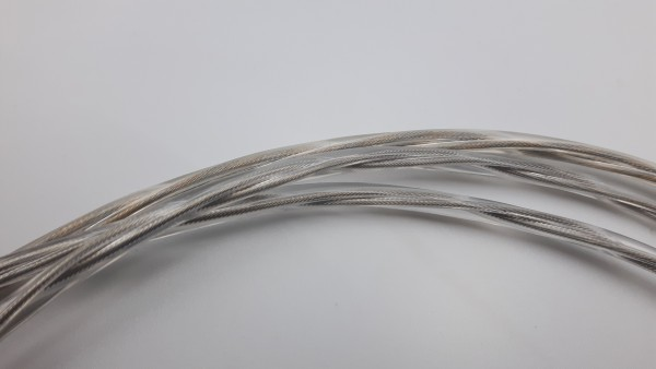 2 Core Round Transparent Flex Lighting Cable 0.50mm Clear Jacket Cable