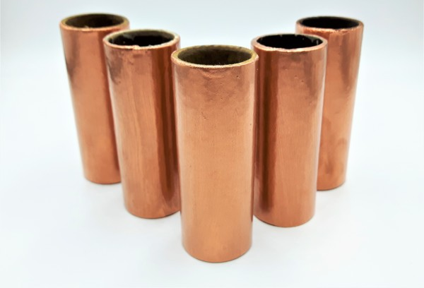 Copper Candle Tubes plain tube Card 100mm x 24mm