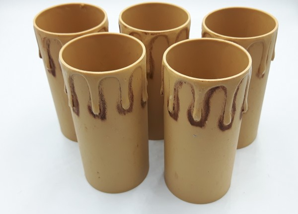 Candle Tubes-sleeves antique Drip Plastic 40mm x 85mm