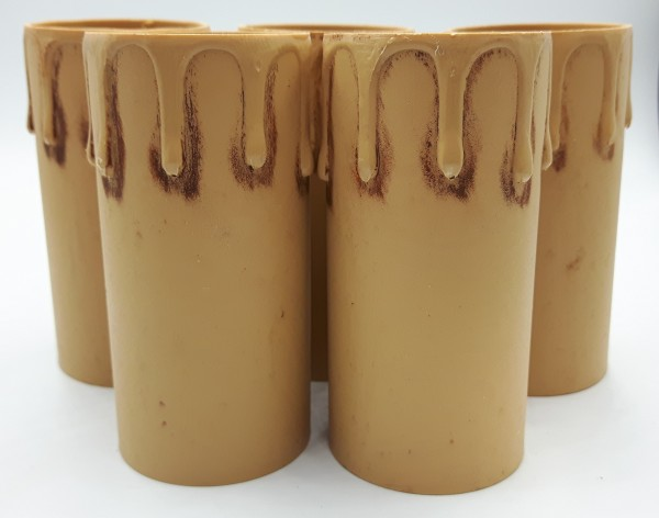 Candle Tubes-sleeves antique Drip Plastic 39mm x 85mm