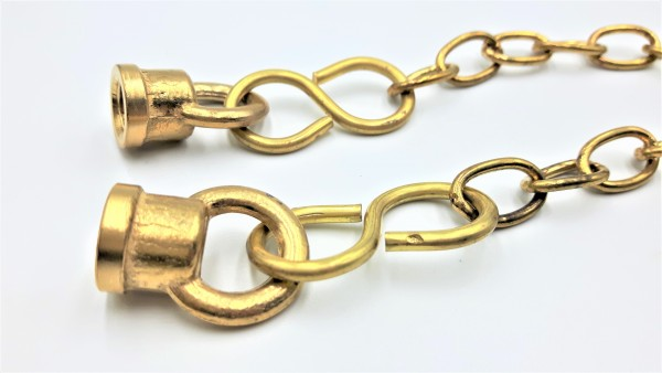 Closed Hoops With Centre Chain M10 Thread in brass finish