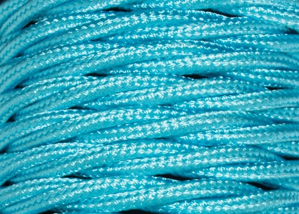 100 METRES of Braided 3 core silk flex lighting cable Aqua 0.75mm