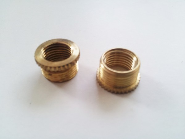 SOLID BRASS REDUCERS PACK OF 2 half inch male to 10mm female