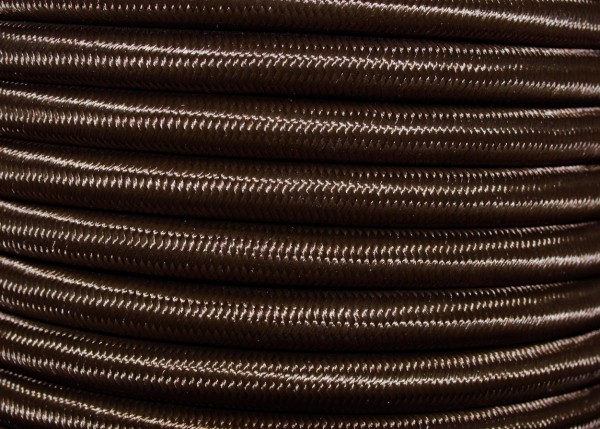 3 core round overbraid brown period wire Silk Flex Electrical Cable 0.5mm