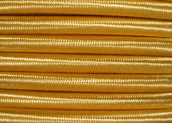 3 CORE ROUND OVERBRAID BRIGHT GOLD ELECTRIC CABLE .50MM