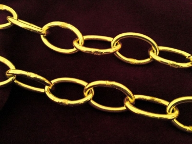 Chandelier Chain Welded Link 1 Inch- in Brass 50kg Max