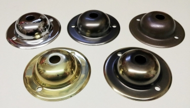 Ceiling Plate Rose Dome Cap 65mm Width Various Finishes 2 Screw Holes