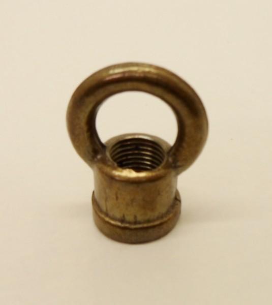 Chandelier hook closed hoop 10mm thread in antique brass 22mm chandelier hook closed hoop 10mm thread in antique brass 22mm diameter aloadofball Gallery
