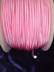 Round Overbraid 3 core Silk Flex Cable Salmon Pink 0.50mm