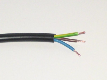 3 Core pvc Flex Electrical Cable 0.50mm BLACK