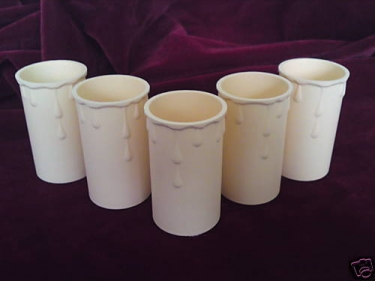 Candle Tube Cream With Drip 70mm X 37mm