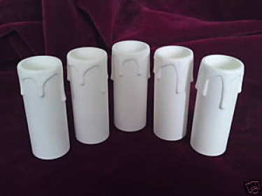 Candle Tube White Drip Plastic 90mm x 27mm