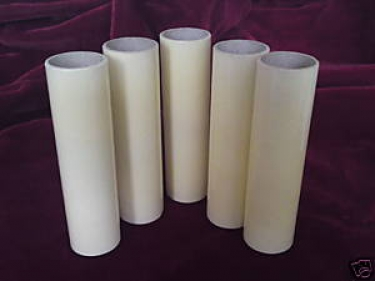 Candle Tubes-sleeves Cream Card 85mm x 24mm