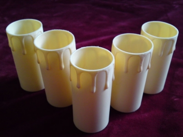 Candle Tubes-sleeves cream Drip Plastic 40mm x 85mm