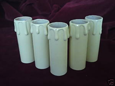 Candle Tubes Cream Drip Card 85mm x 27mm