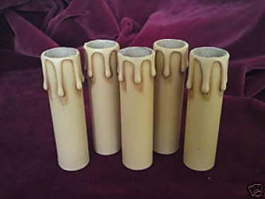 Candle Tube Antique Drip Card 100mm x 24mm