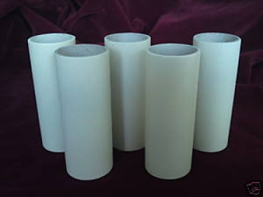 Candle Tubes Cream Tube Card 65mm x 24mm