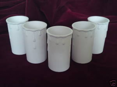 Candle Tubes White Drip Plastic 70mm x 37mm