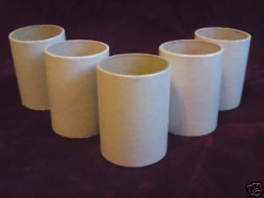 Candle Tubes White Tube Card 60mm x 40mm