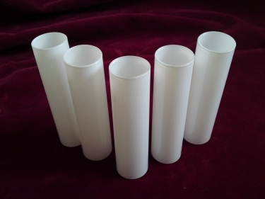 GLASS CANDLE TUBE SLEEVE COVER IN WHITE 120MM X 29MM