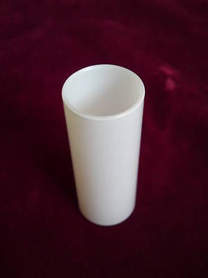 SINGLE GLASS LAMP HOLDER COVER IN GLOSS OPAL WHITE 85MM X 29MM