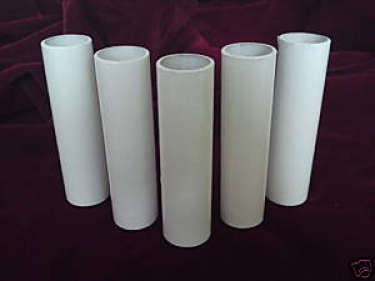 Candle Tube White Tube Plastic 85mm x 24mm