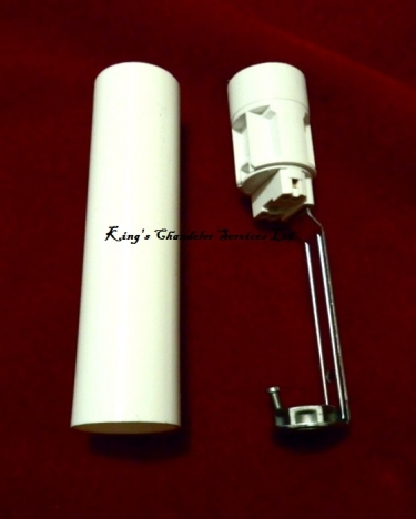 Candle Tube sleeve 85mm x 24mm White Plastic and Lampholder E14 SES To Fit