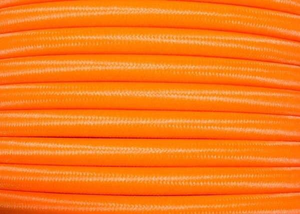 ROUND OVERBRAID 3CORE SILK FLEX CABLE IN ORANGE 0.50 MM