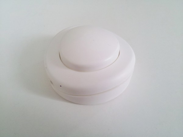 Inline floor or table lamp switch in white 2 or 3 core