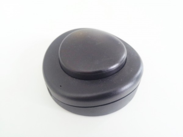Inline floor or table lamp switch in black 2 or 3 core