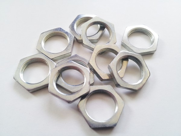 10 X M13 HEXAGON NUTS 13MM THREAD ZINC PLATED STEEL