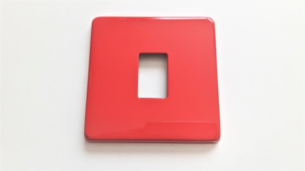 Light Switch Cover Plate Conversion In Red