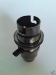 Switched bulb-lamp holder B22 Black Nickel Finish 10mm base thread