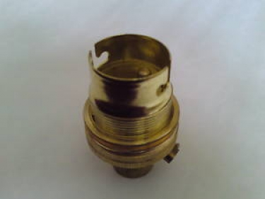 locking bulb-lamp holder BC - B22 earthed 1~2