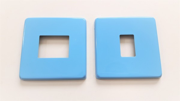 Light Switch Cover Plate Conversion In sky blue double or single switch