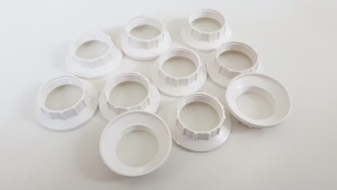 E14 Chunky Shade Rings White Plastic 44mm Width External 27mm Width Internal